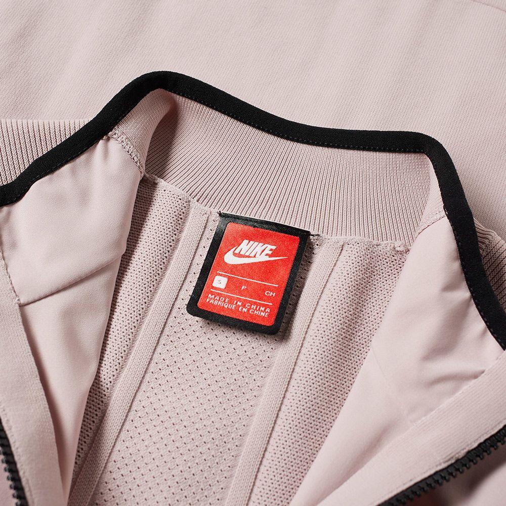 0471f60a091989 Nike Tech Knit Jacket Particle Rose   Black