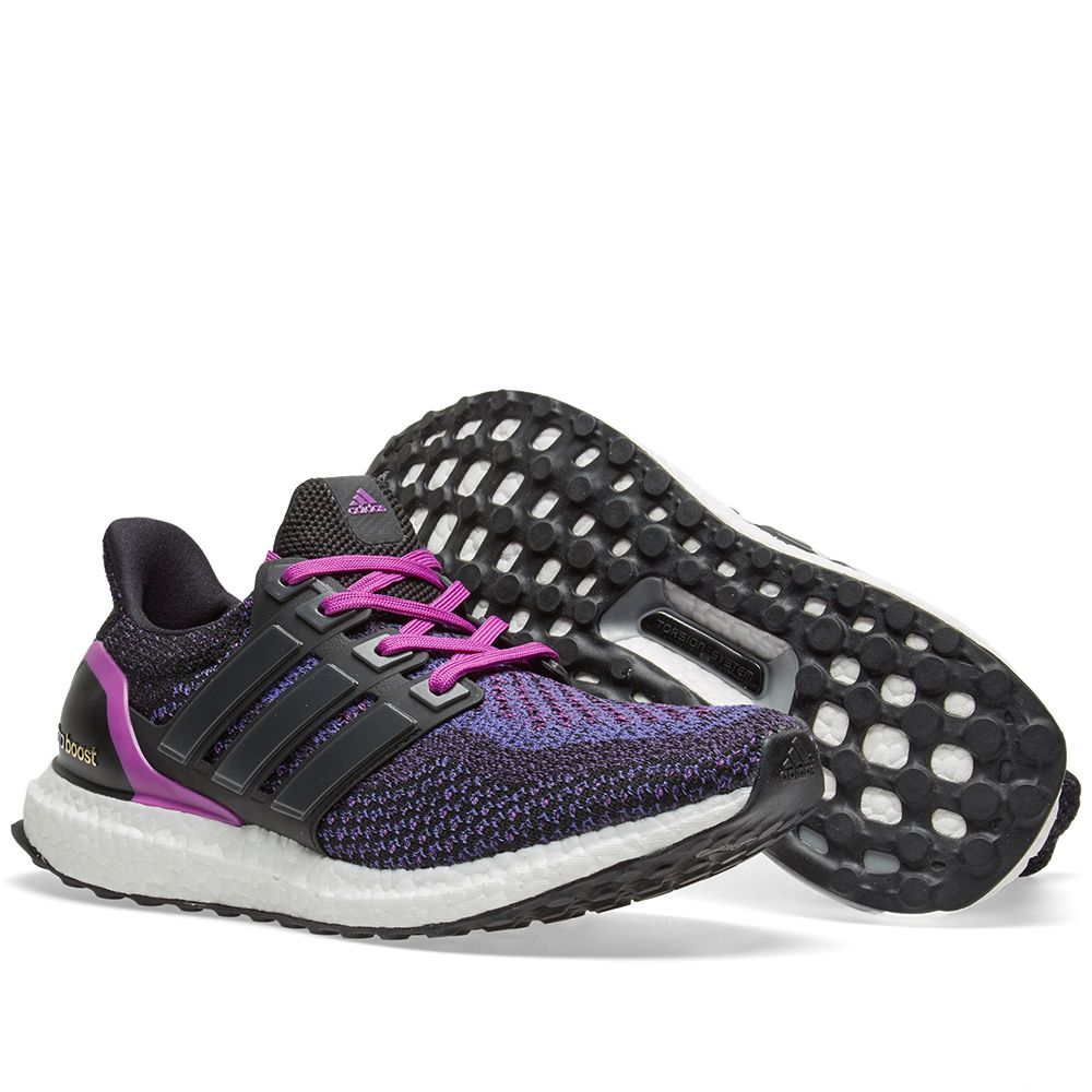 big sale bb127 85de8 Adidas Womens Ultra Boost W. Core Black  Shock Purple