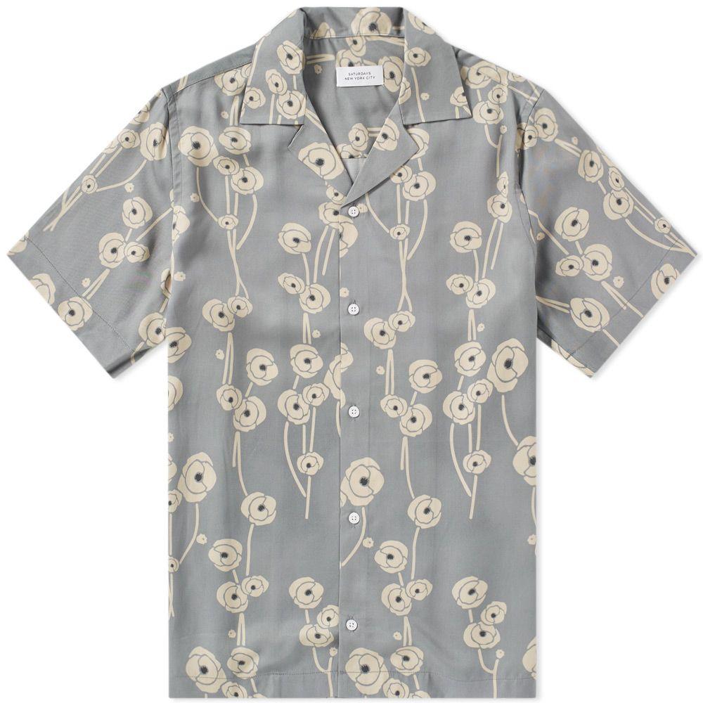 e781dcf0cad Saturdays NYC Short Sleeve Canty Poppy Shirt Stone Blue