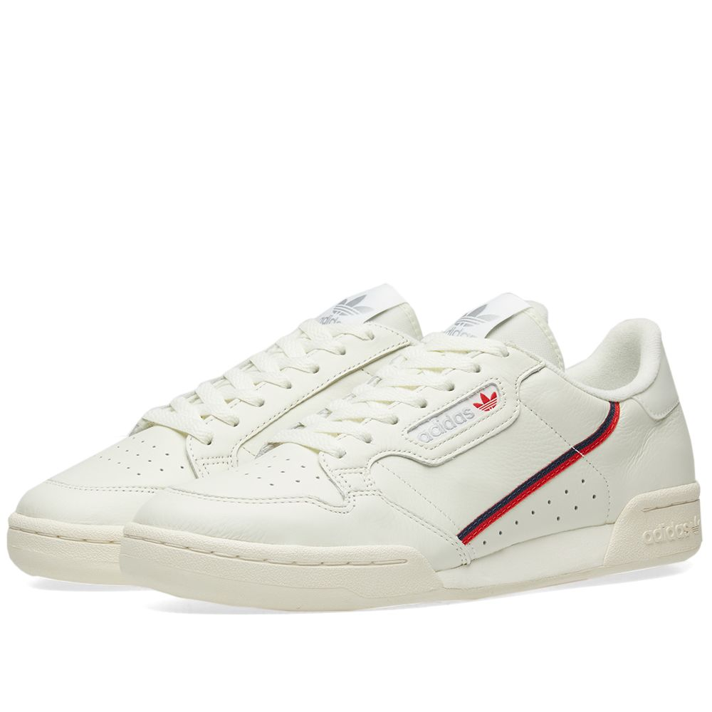 quality design 88db9 2e6ea Adidas Continental 80 Tint, Off-White  Scarlet  END.