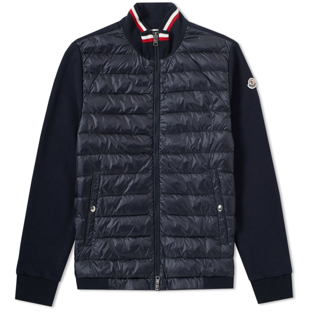 Moncler Padded Front Jersey Zip Track Top Navy  877747073