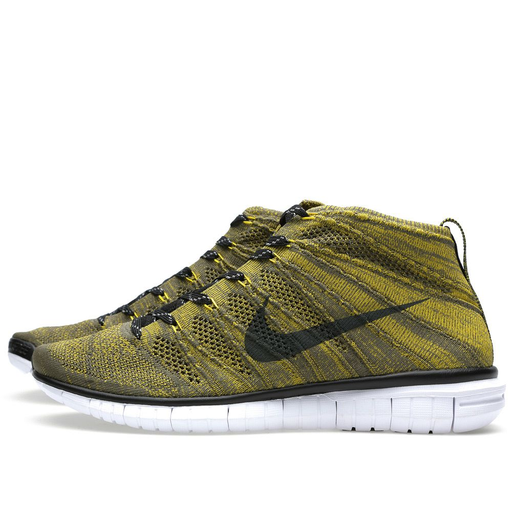 reputable site 55a64 e7fef Nike Free Flyknit Chukka Tarp Green   Black   END.