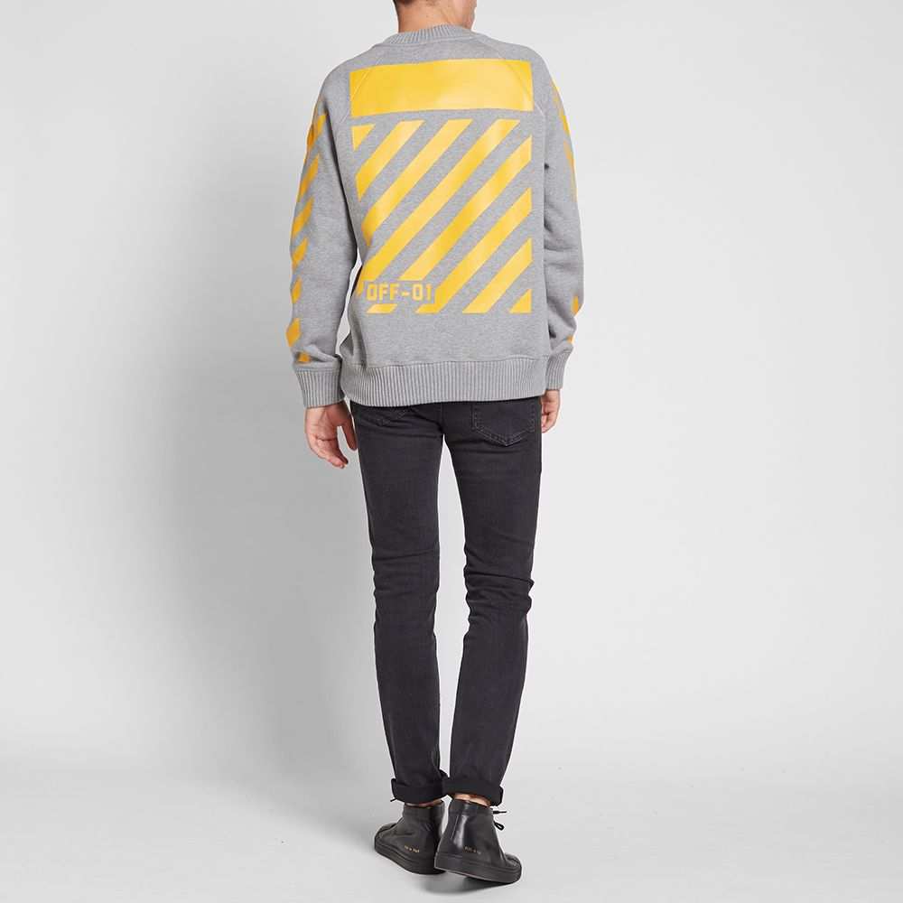 daa364c48 Moncler x Off-White Chevron Crew Sweat Grey Marl