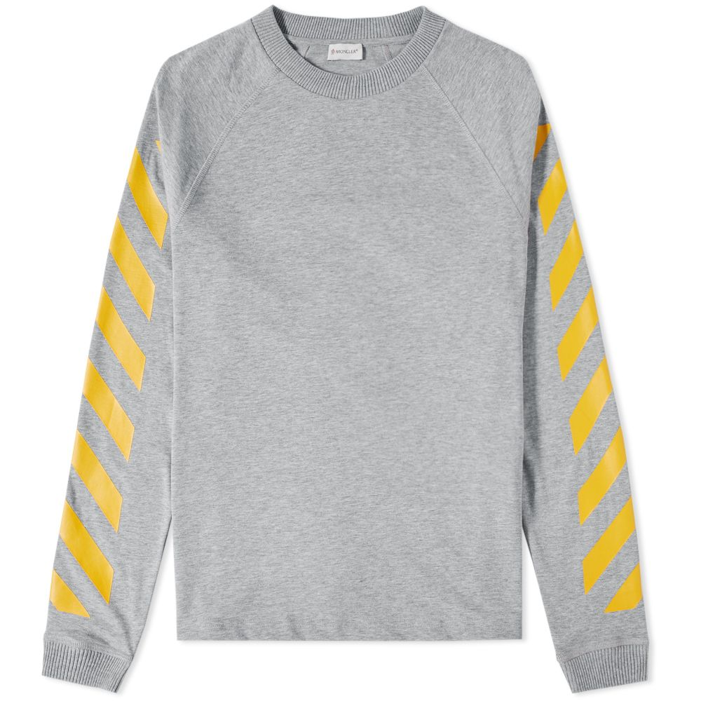 5815fc55e Moncler x Off-White Long Sleeve Chevron Tee Grey