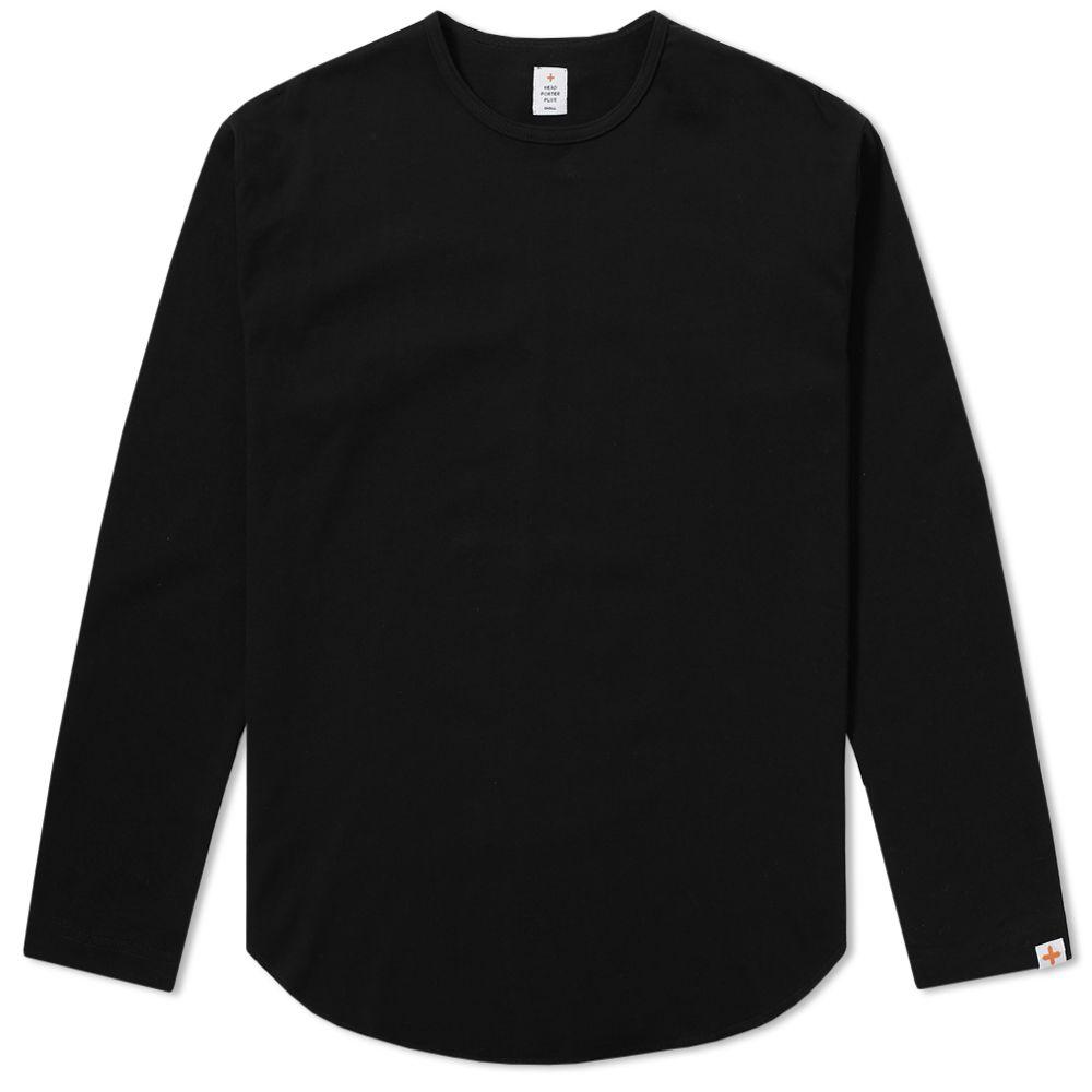 Head Porter Plus Long Sleeve Oval Tee Black  33aa35bf4