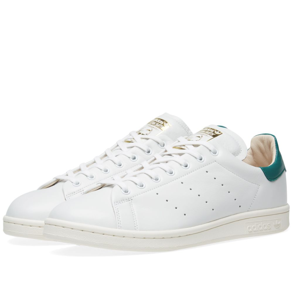 Adidas Stan Smith Lux White   Noble Green  ce92f5af70fa