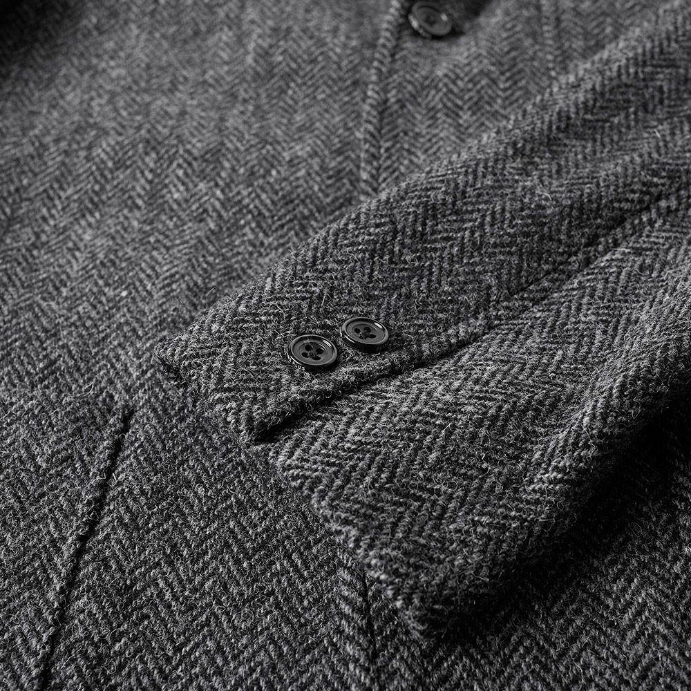 04e2401bb47f5 Beams Plus 3 Button Harris Tweed Blazer Grey Herringbone