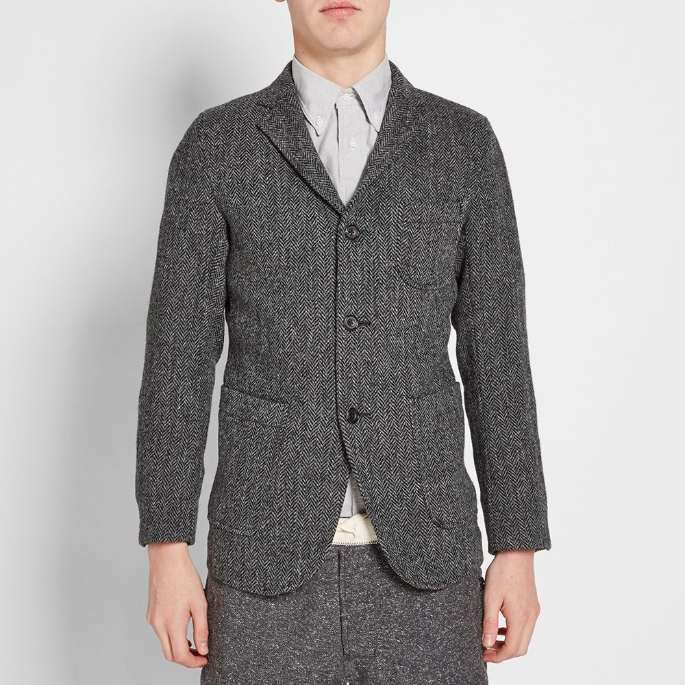 f5679dcb21588 Beams Plus 3 Button Harris Tweed Blazer. Grey Herringbone. HK 5