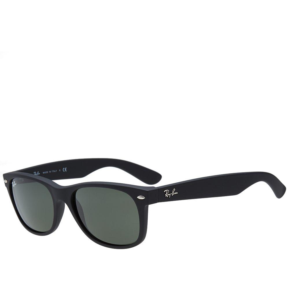 1901a1067072 Ray Ban New Wayfarer Sunglasses Matte Black Rubberised