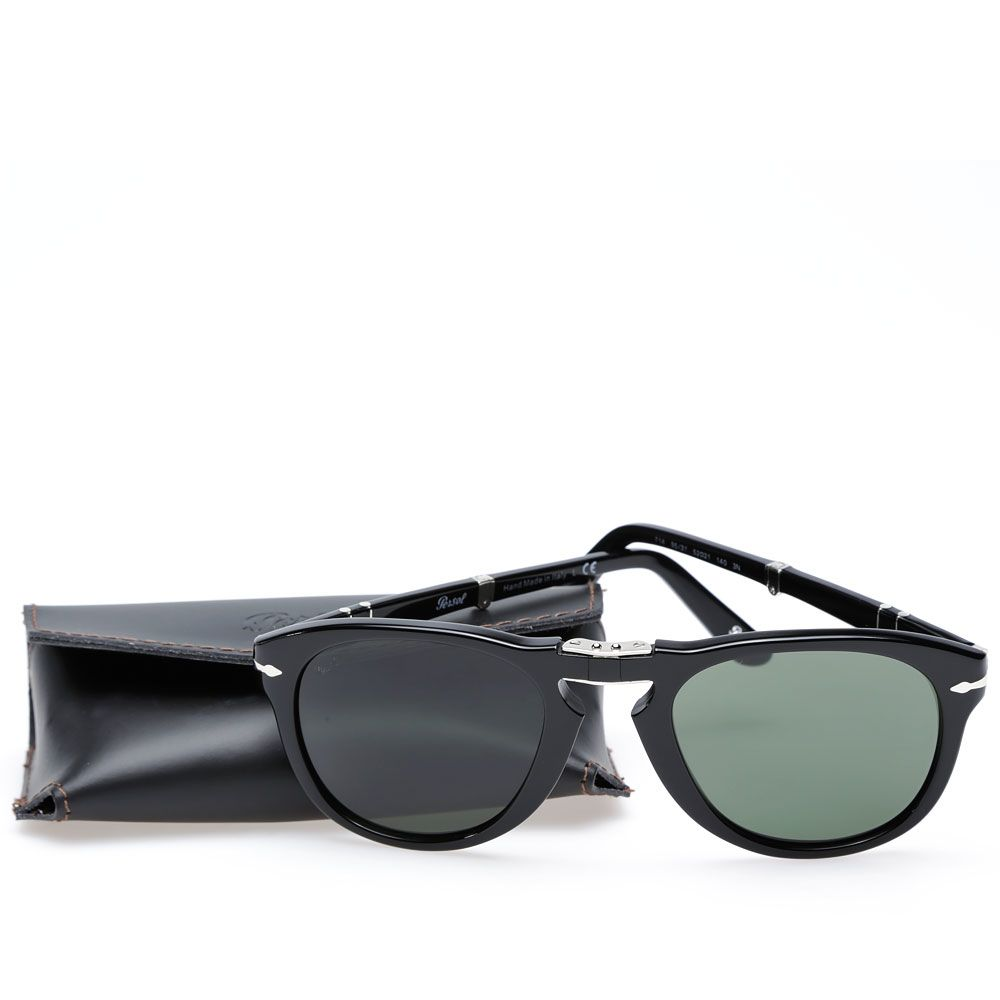 a2d641bf14a Persol 714 Foldable Aviator Sunglasses Black
