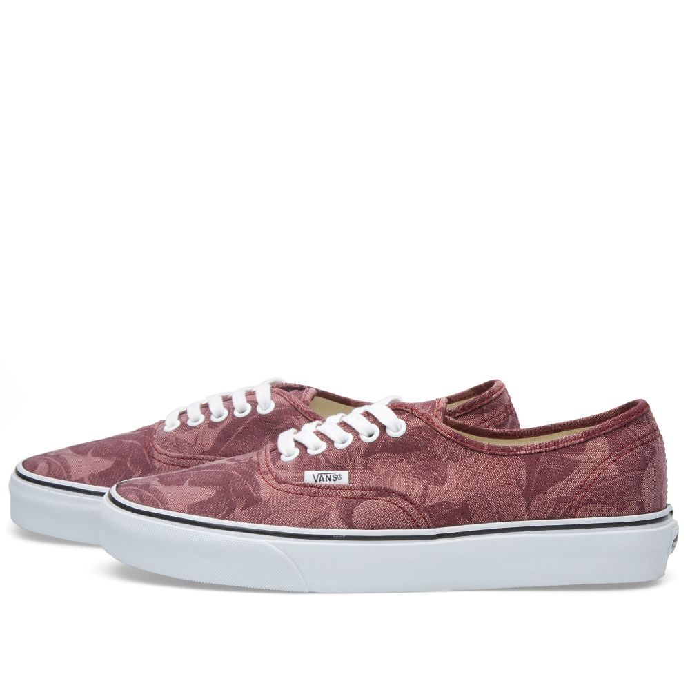 99e1b9bfed3714 Vans Authentic Chambray Leaves Windsor Wine
