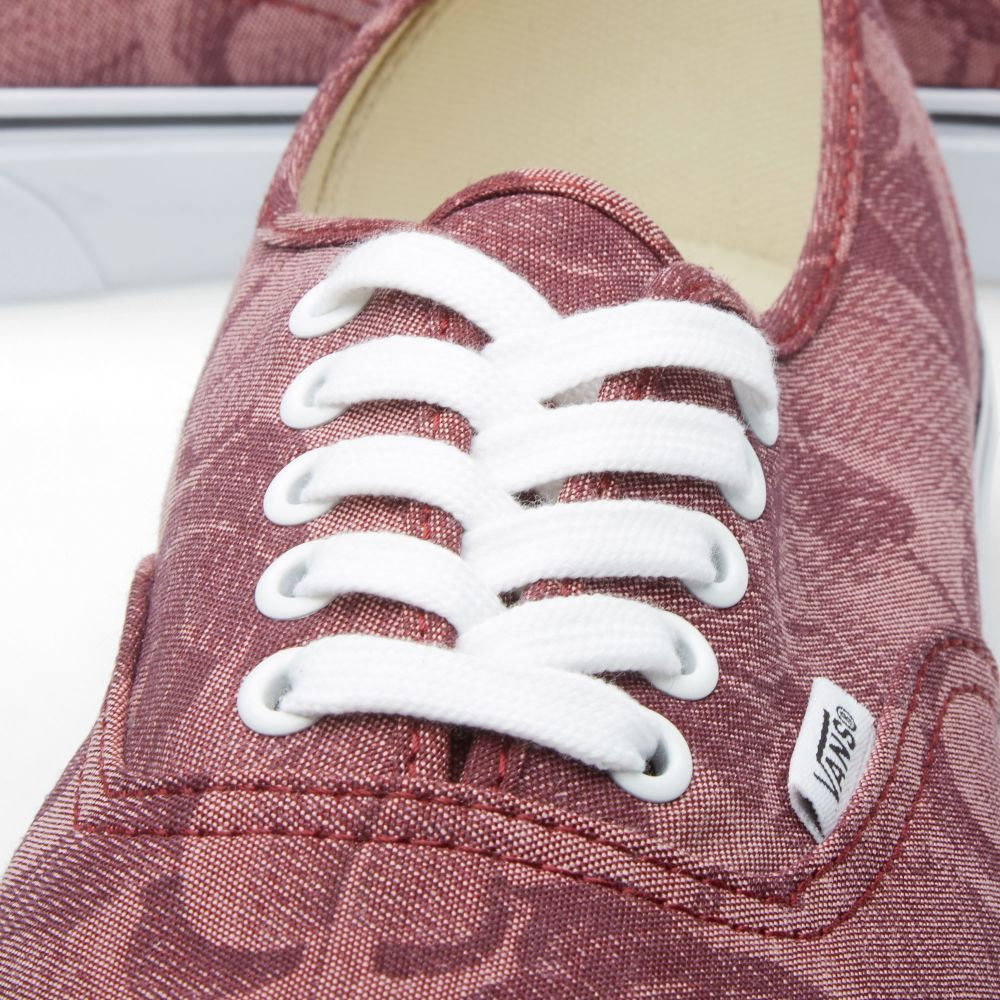 ab09c5b4e2 Vans Authentic Chambray Leaves Windsor Wine