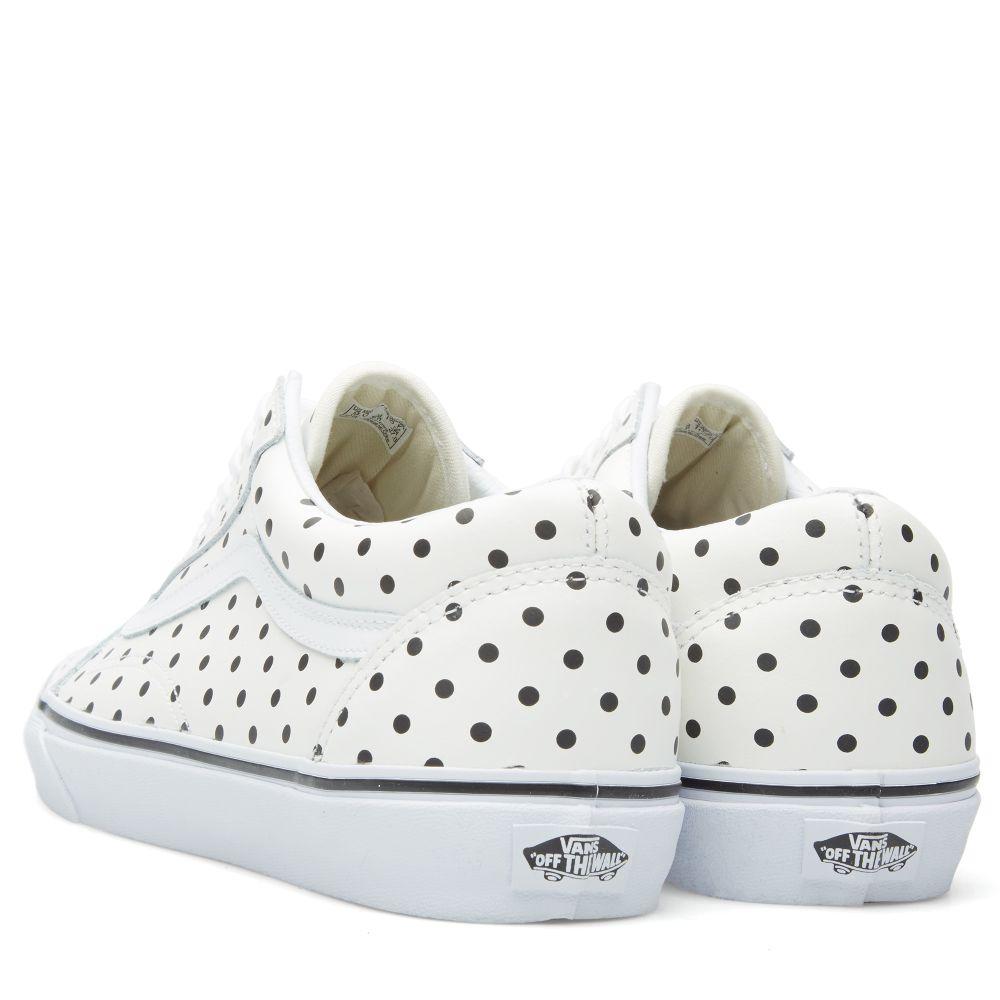 b4f476098ad9 Vans Old Skool Polka Dot White
