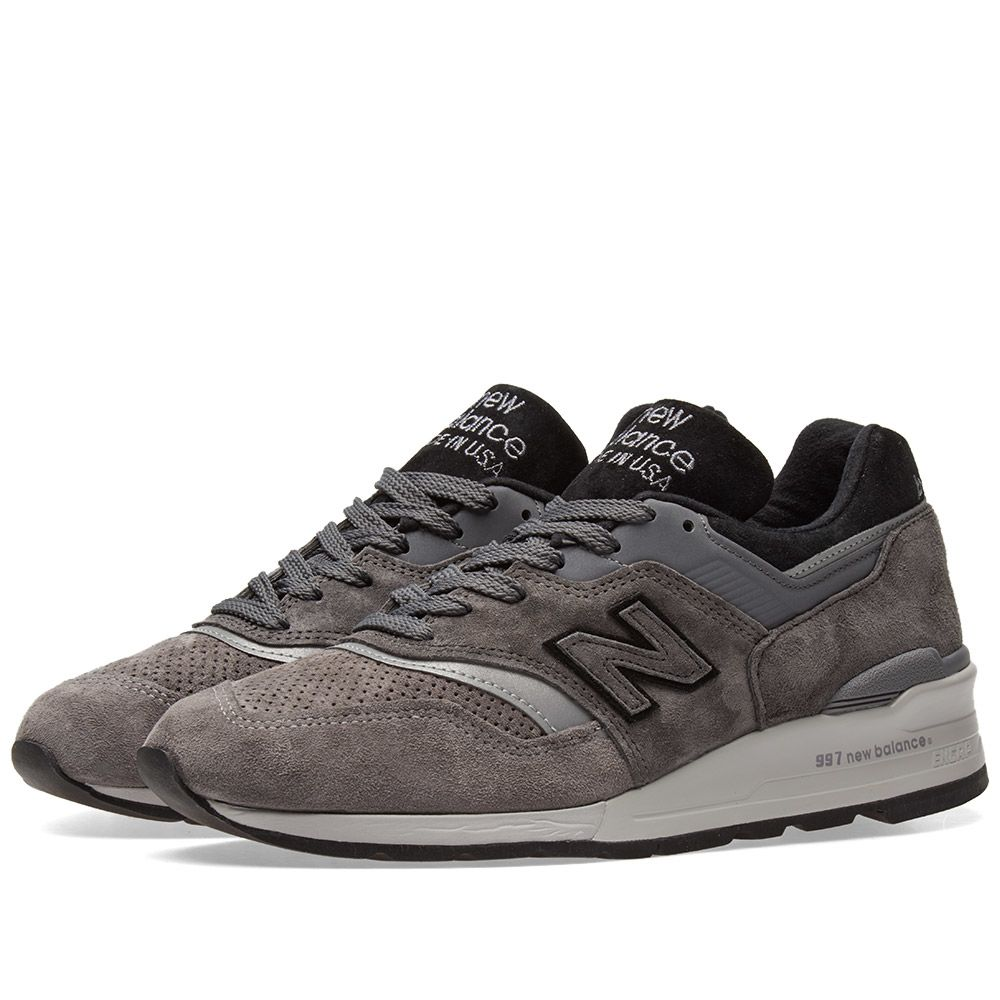 357db2950641ae New Balance M997BRK - Made in the USA Black   Grey