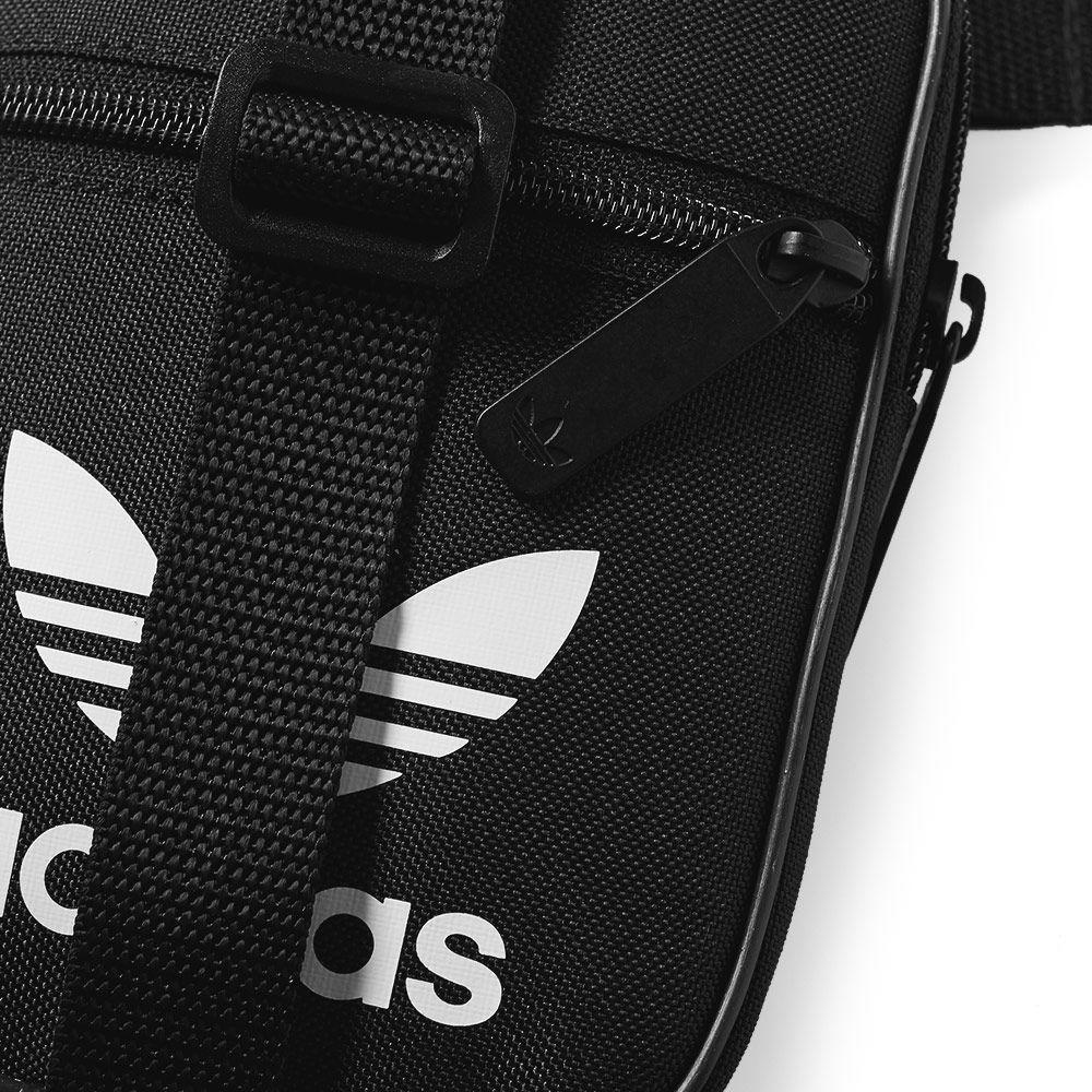 9fc6e42f39d7 Adidas Trefoil Festival Bag. Black   White