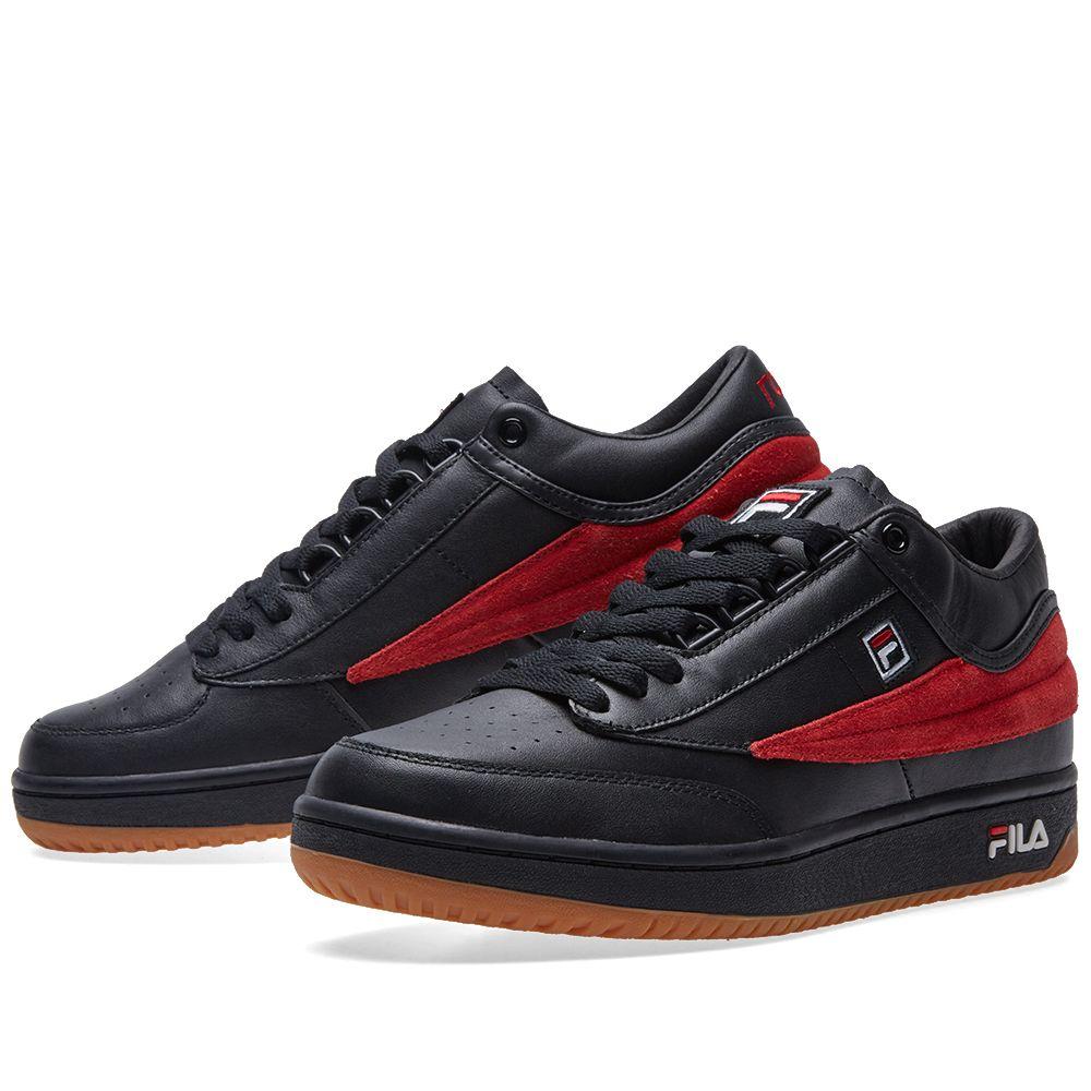 7fb281f88482 Gosha Rubchinskiy x FILA T-1 Sneaker Black   Red