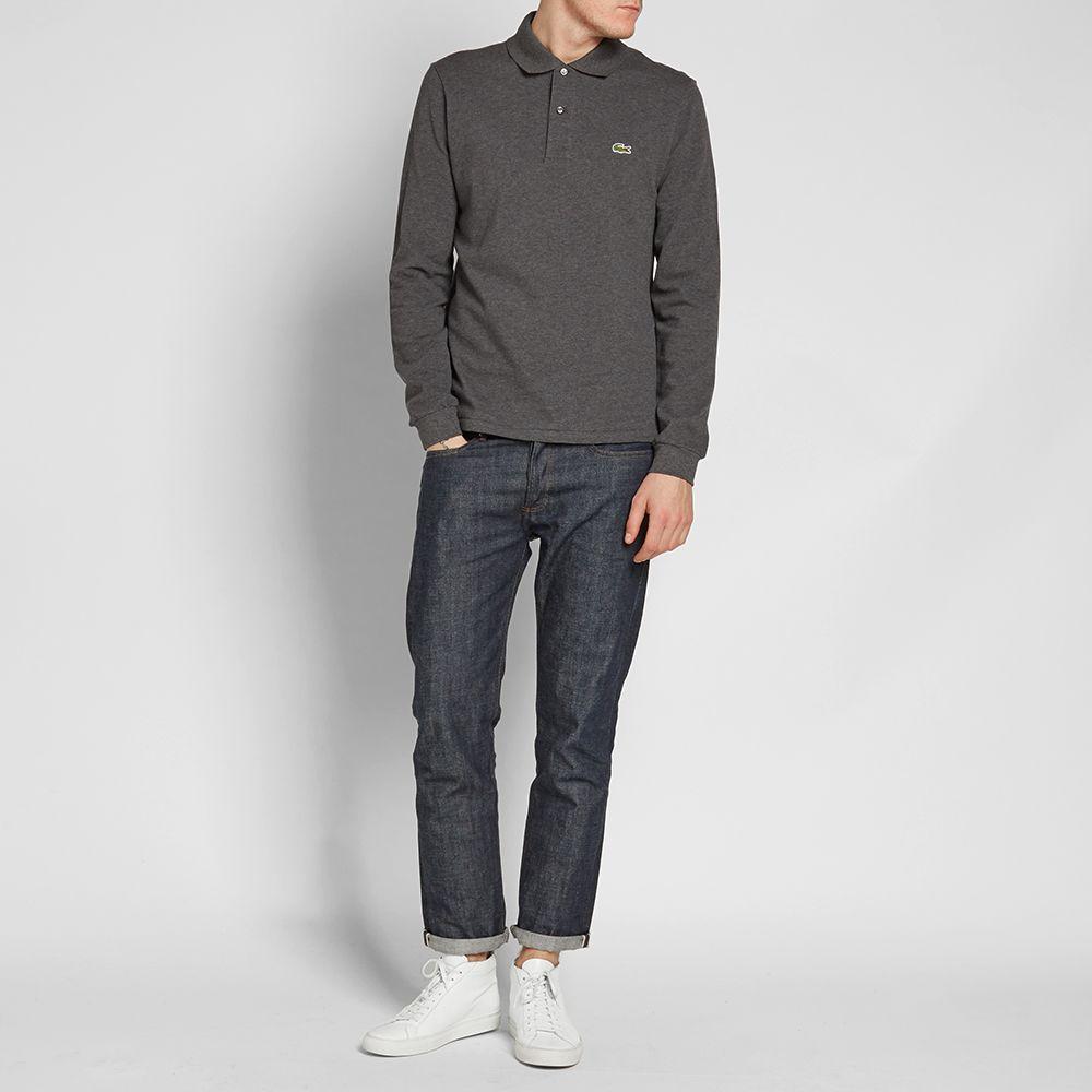 4e1acecb6e622 Lacoste Long Sleeve Marl Pique Polo. Dark Grey Marl. £85 £49. image