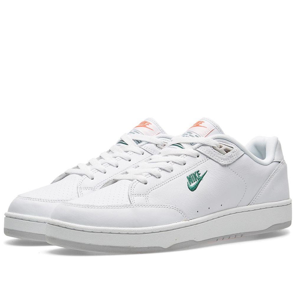 competitive price 3c95e f1efd Nike Grandstand II Premium White  Dark Cypress  END.