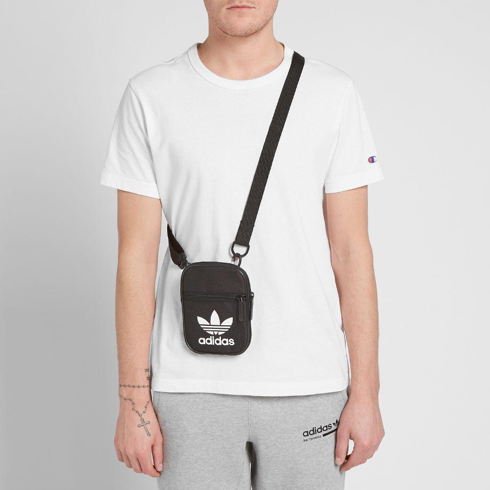 Adidas Trefoil Festival Bag Black   White  17f671c1197bb