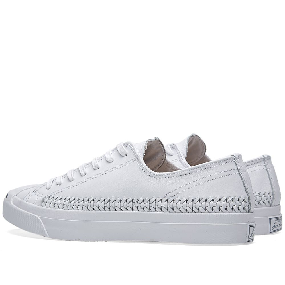 afc1530f2de0 Converse Jack Purcell Woven Leather Ox White