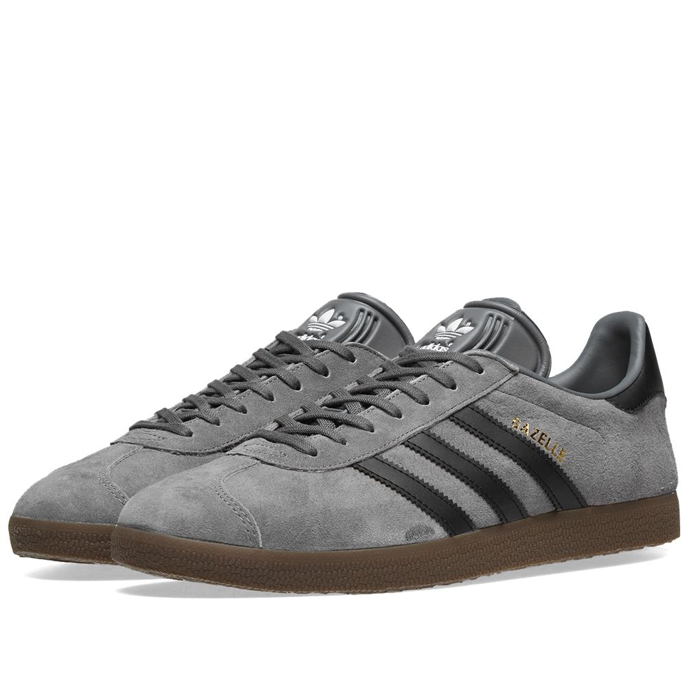 classic fit a901a 3d99c Adidas Gazelle Grey, Core Black  Gum  END.