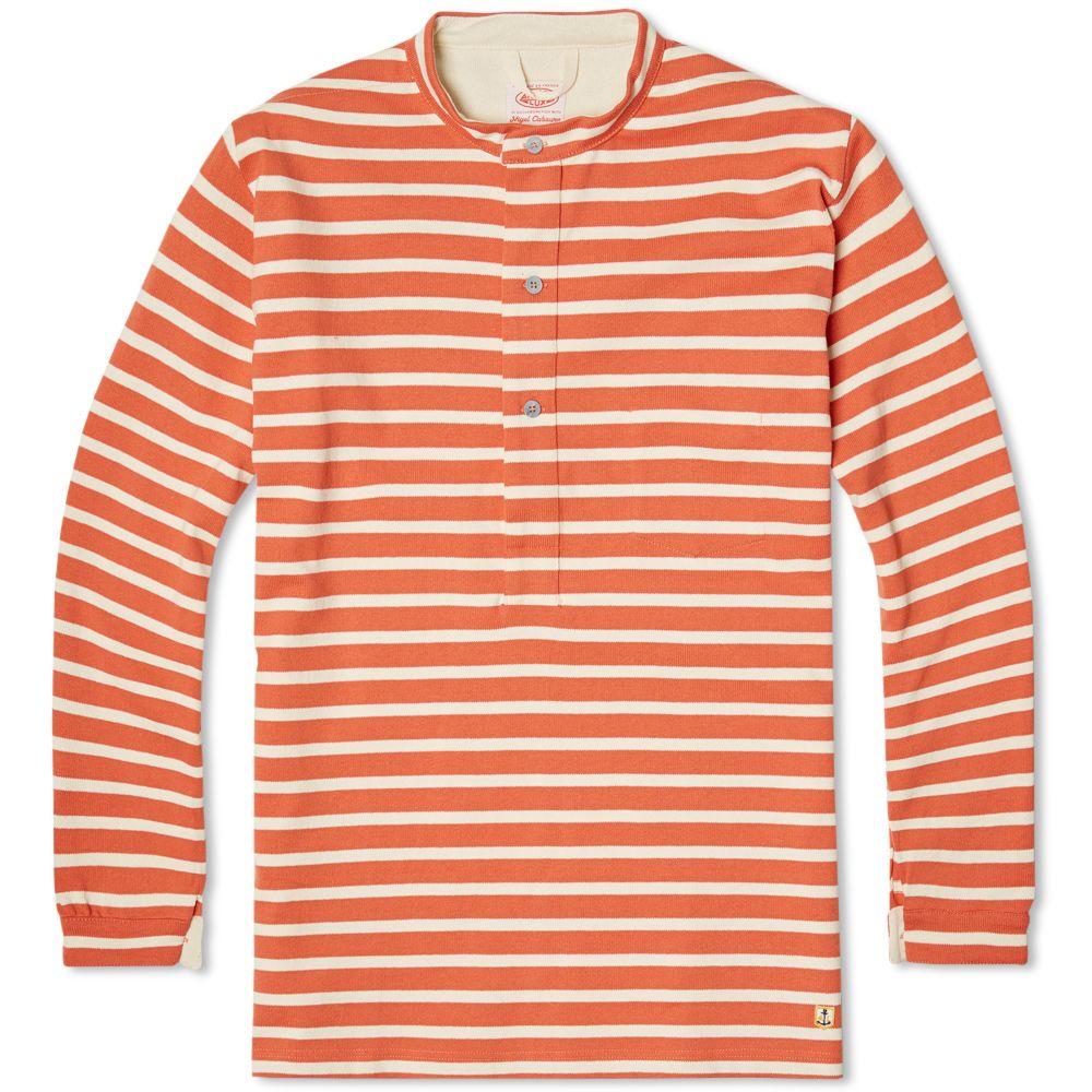 344a3750a55c Nigel Cabourn x Armor-Lux Grandad Jersey Orange Stripe