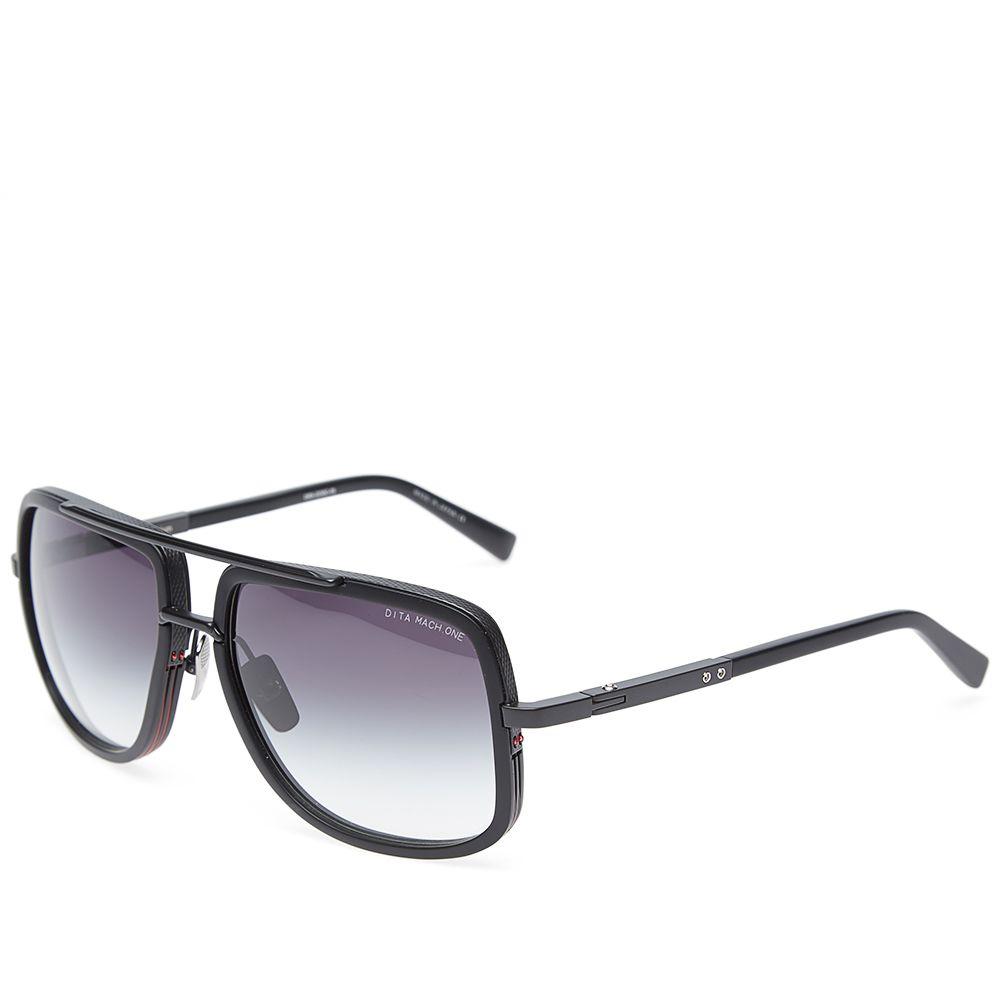 3604878acc Dita Mach-One Sunglasses Matte Black   Grey