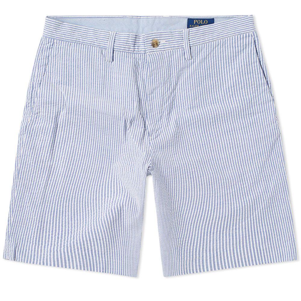 f6030a47 ... usa polo ralph lauren classic seersucker short. blue white stripe. 129  85. plus