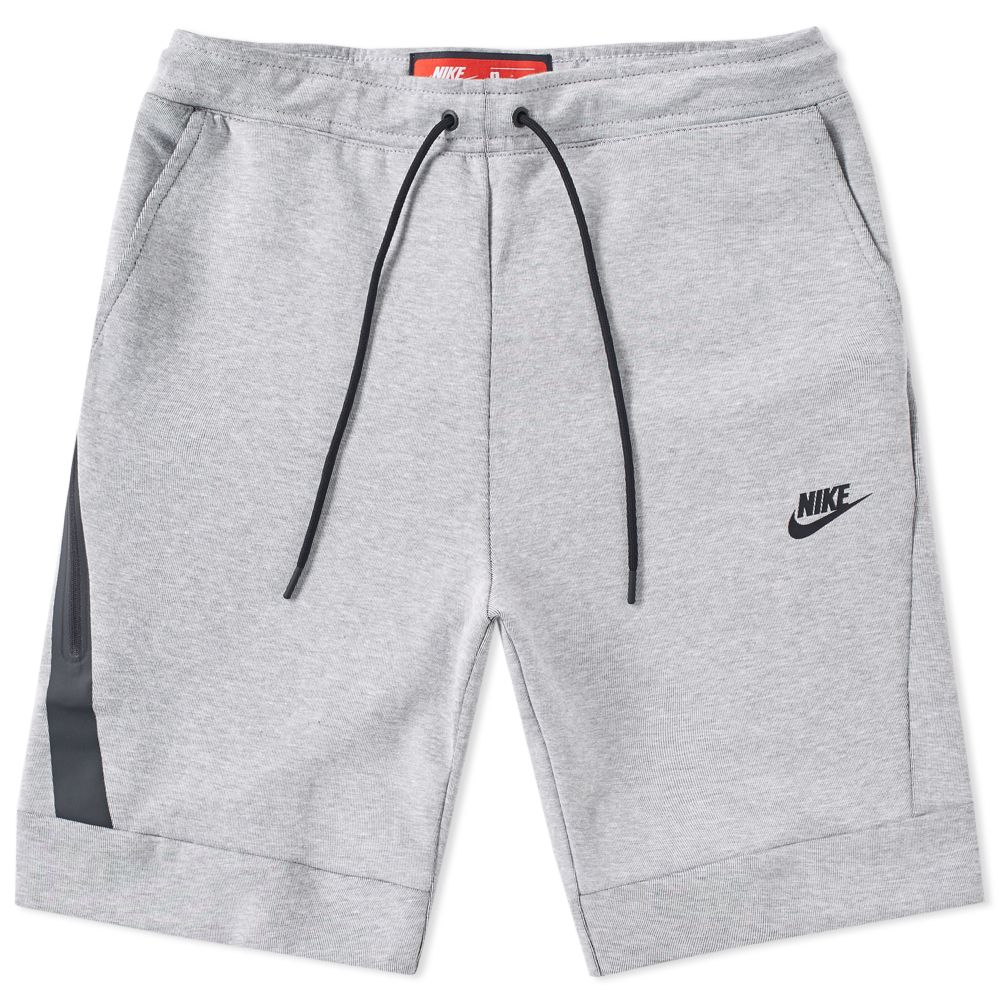 nike tech fleece short white heather black end. Black Bedroom Furniture Sets. Home Design Ideas