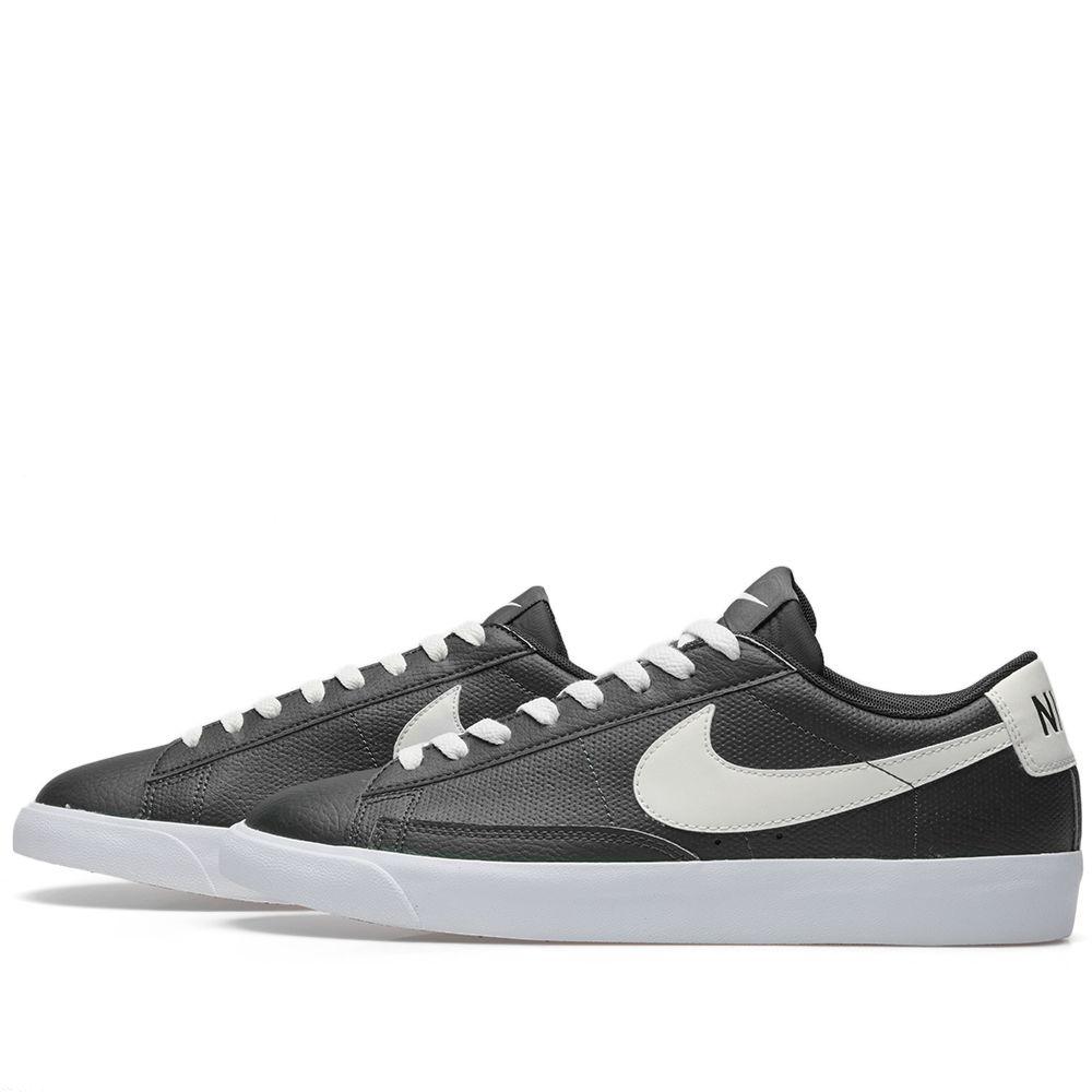 buy popular 621c7 0c465 Nike Blazer Low Leather Black, Sail  Gum Brown  END.