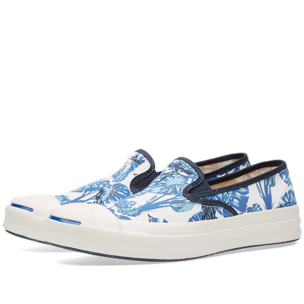 8d07e7465041 Converse Jack Purcell Signature Slip On  Tropical  White   Blue