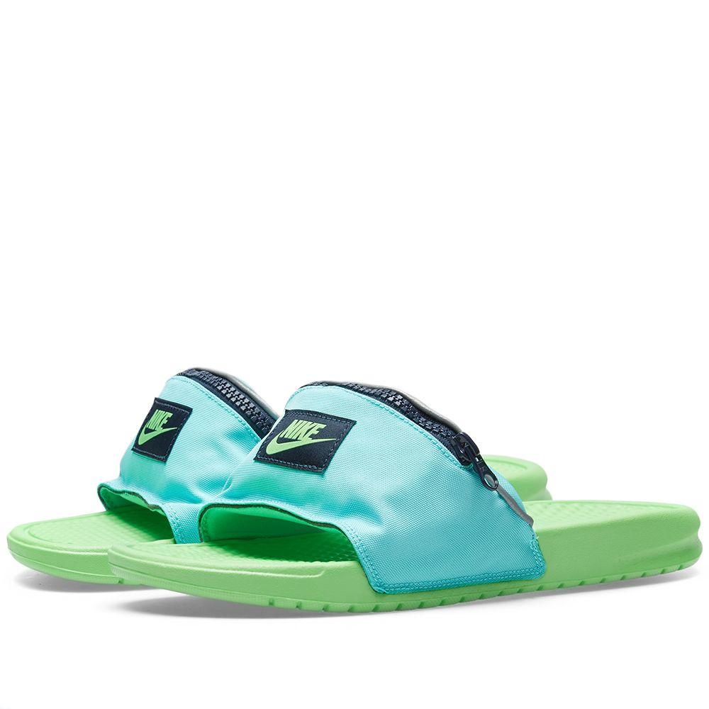0813b1d1990b9 Nike Benassi JDI Fanny Pack Aurora Green   Green Strike