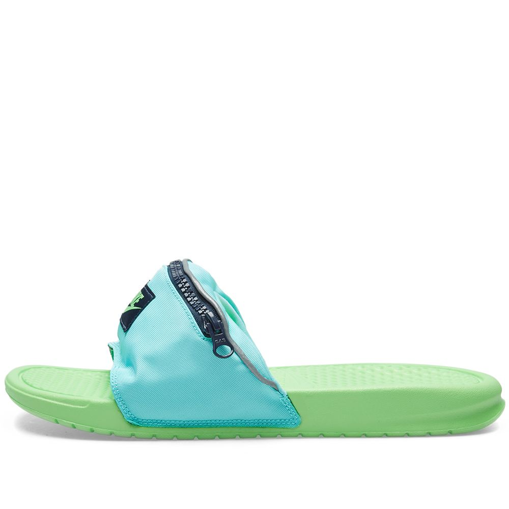 11e6d8ff786652 Nike Benassi JDI Fanny Pack Aurora Green   Green Strike