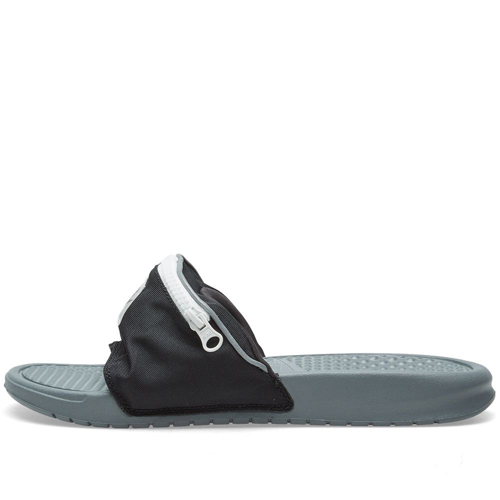 7f490bc70f9c Nike Benassi JDI Fanny Pack Slides Black White AO1037-001 Size 10-12 Men s  Shoes