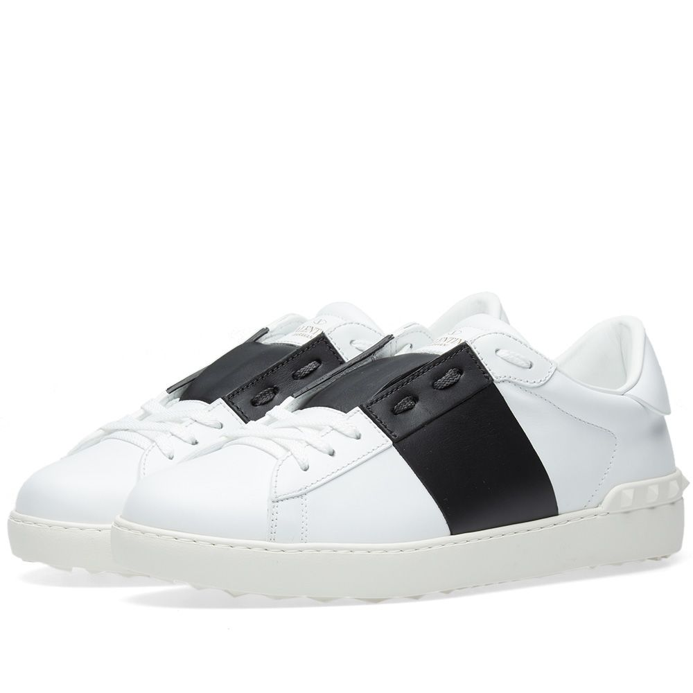 4ac046ae689d Valentino Open Low Top Sneaker White   Black