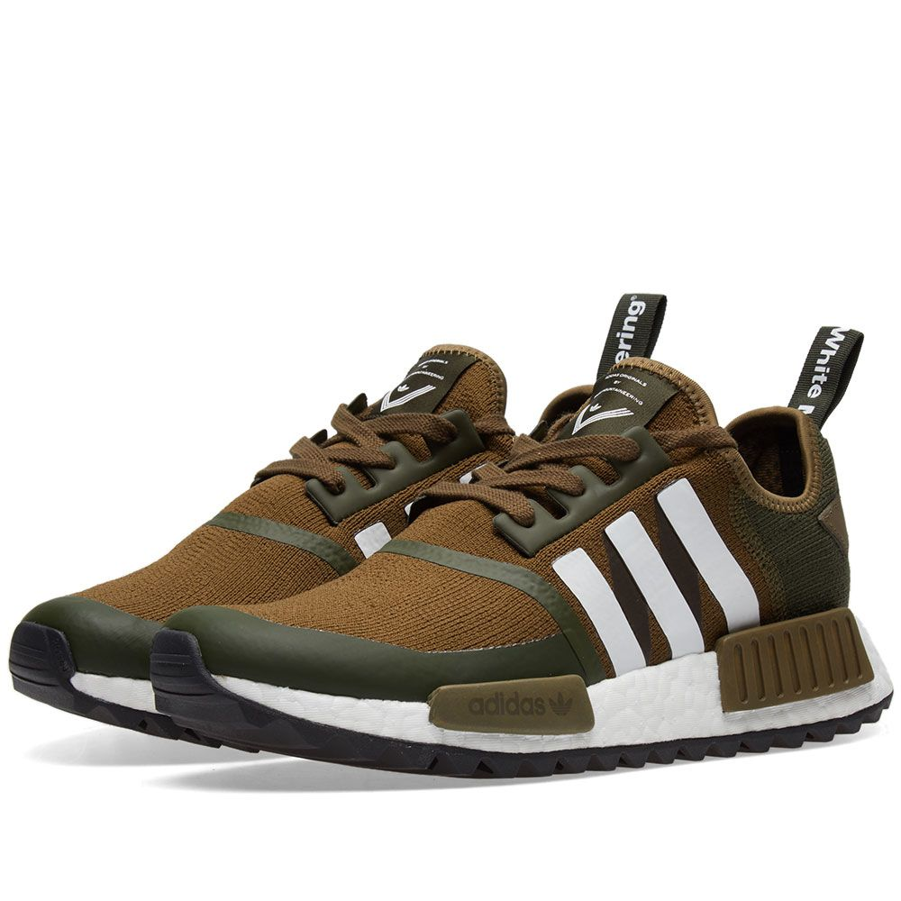 info for b983b cd238 Adidas x White Mountaineering NMD Trail PK. Trace Olive   White