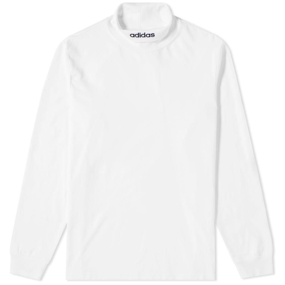 Adidas Long Sleeve Hi Collar Tee White Navy End