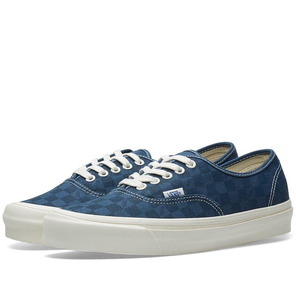 ca66424a5ae Vans Vault OG Authentic LX Checkerboard   Majolica Blue