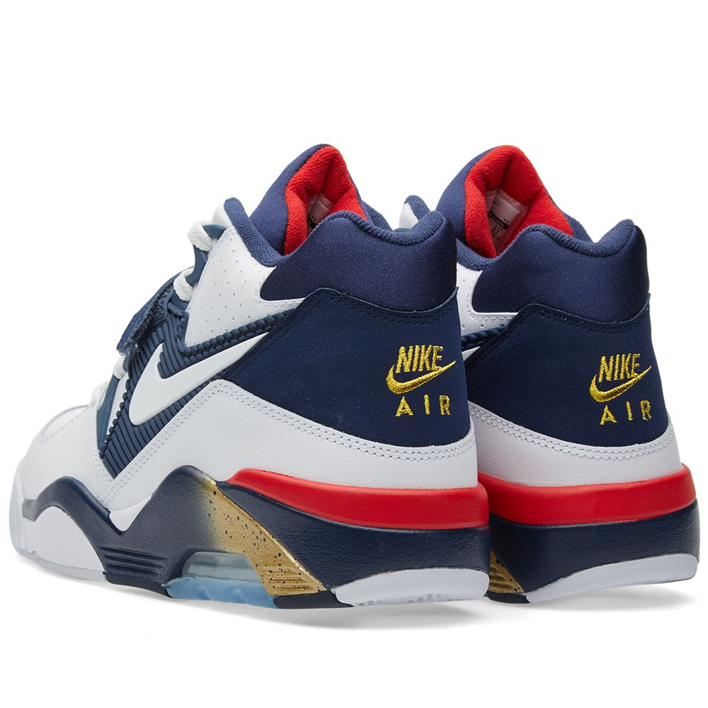 7cf98c56152 Nike Air Force 180 White & Midnight Navy | END.