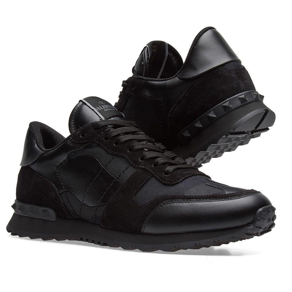 f9507631da19 Valentino Rockrunner Sneaker Metallic Black Camo