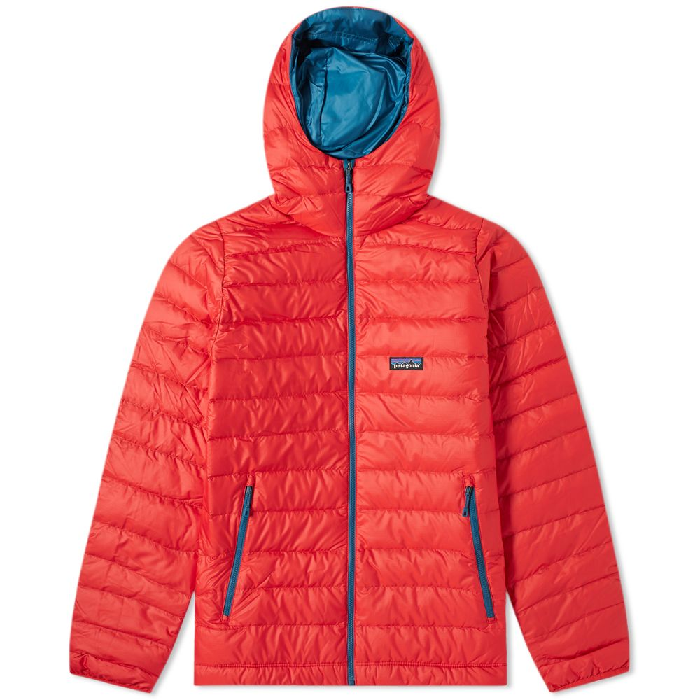 dbb17993d22 Patagonia Down Sweater Hoody Fire Red