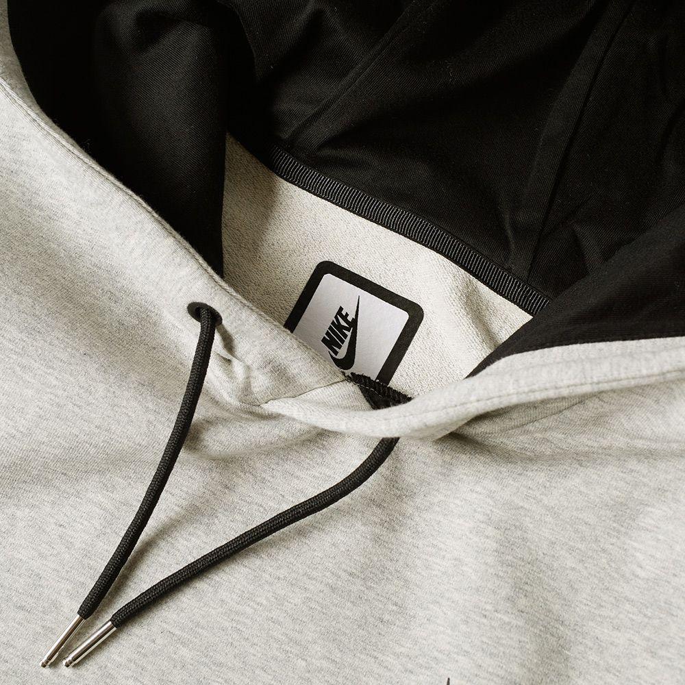 NikeLab Essentials Hoody Grey Heather   Black  454e3f45ca56