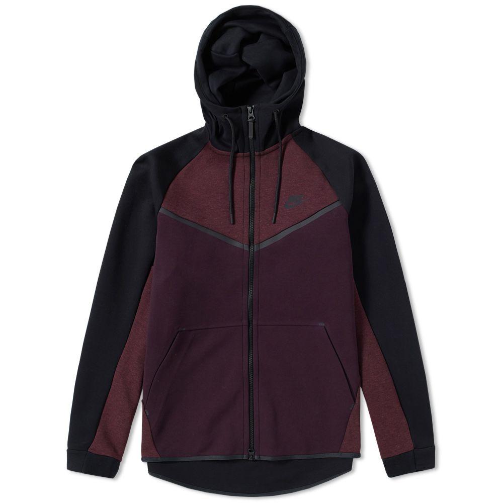 Nike Tech Fleece Windrunner Zip Hoody Port Wine 5a986b07a