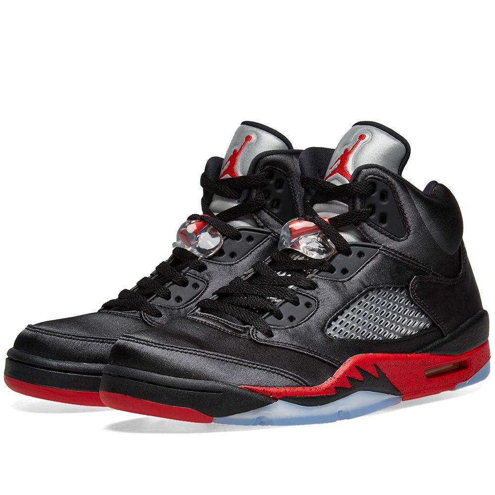 59568dec83677 Air Jordan 5 Retro Black   University Red