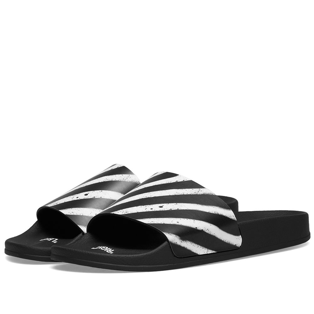 7b451505b8f6 Off-White Spray Stripe Slider Black   White