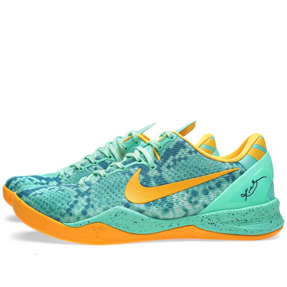 3645ade9468b Nike Kobe 8 System Green Glow   Laser Orange