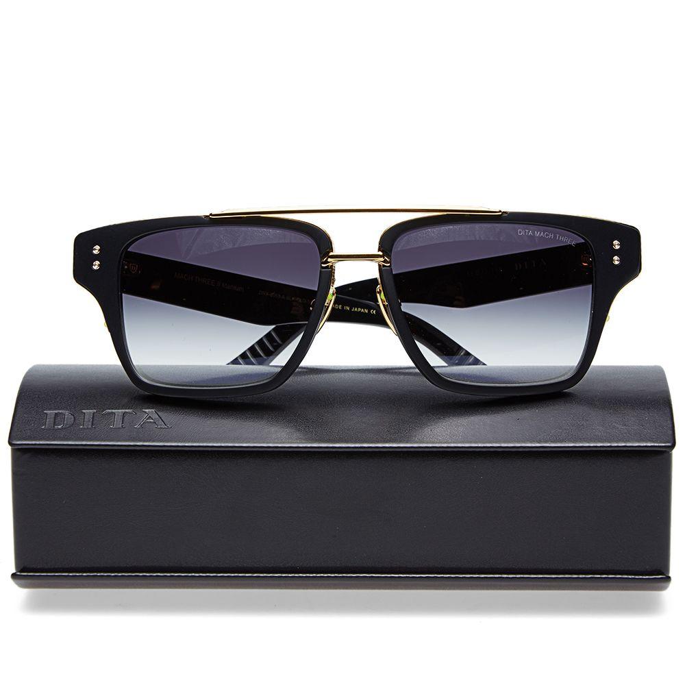 be7cc815173 Dita Mach-Three Sunglasses Matte Black   Grey