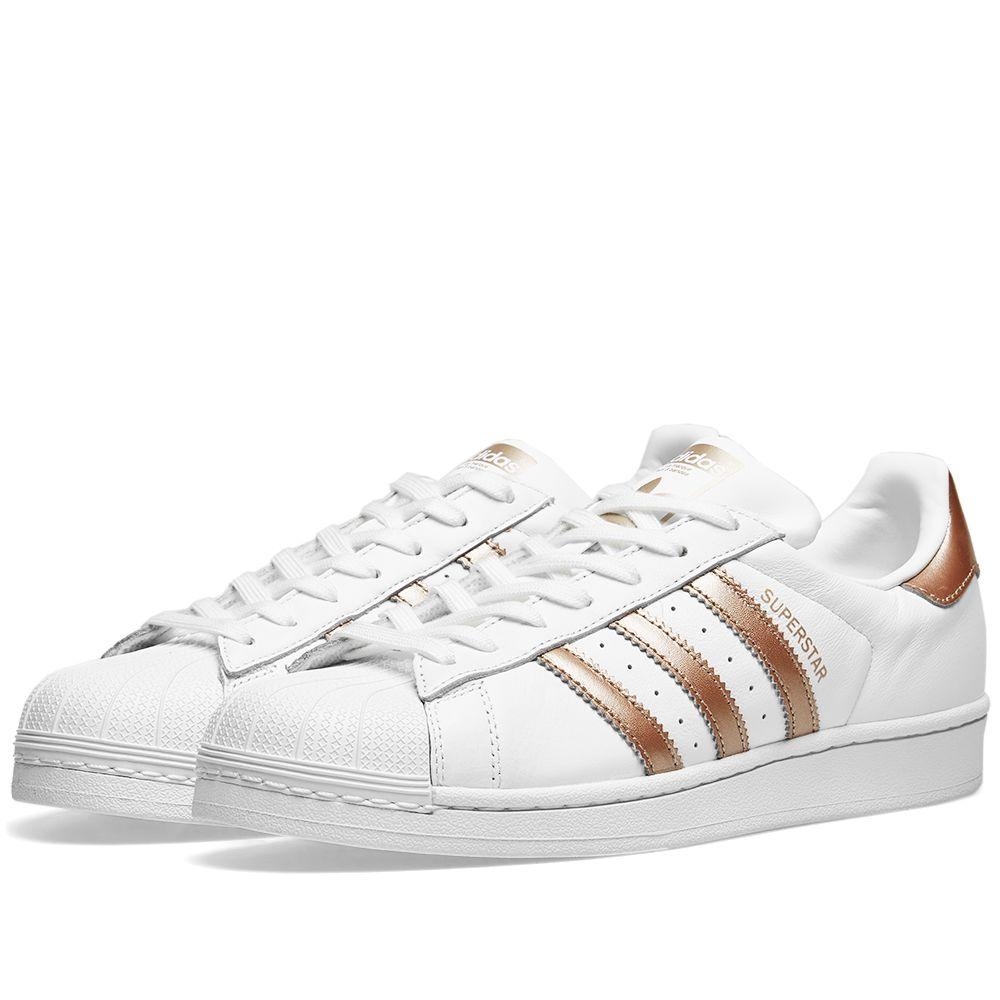 bfe95cec01f28a Adidas Superstar W White   Cyber Metallic