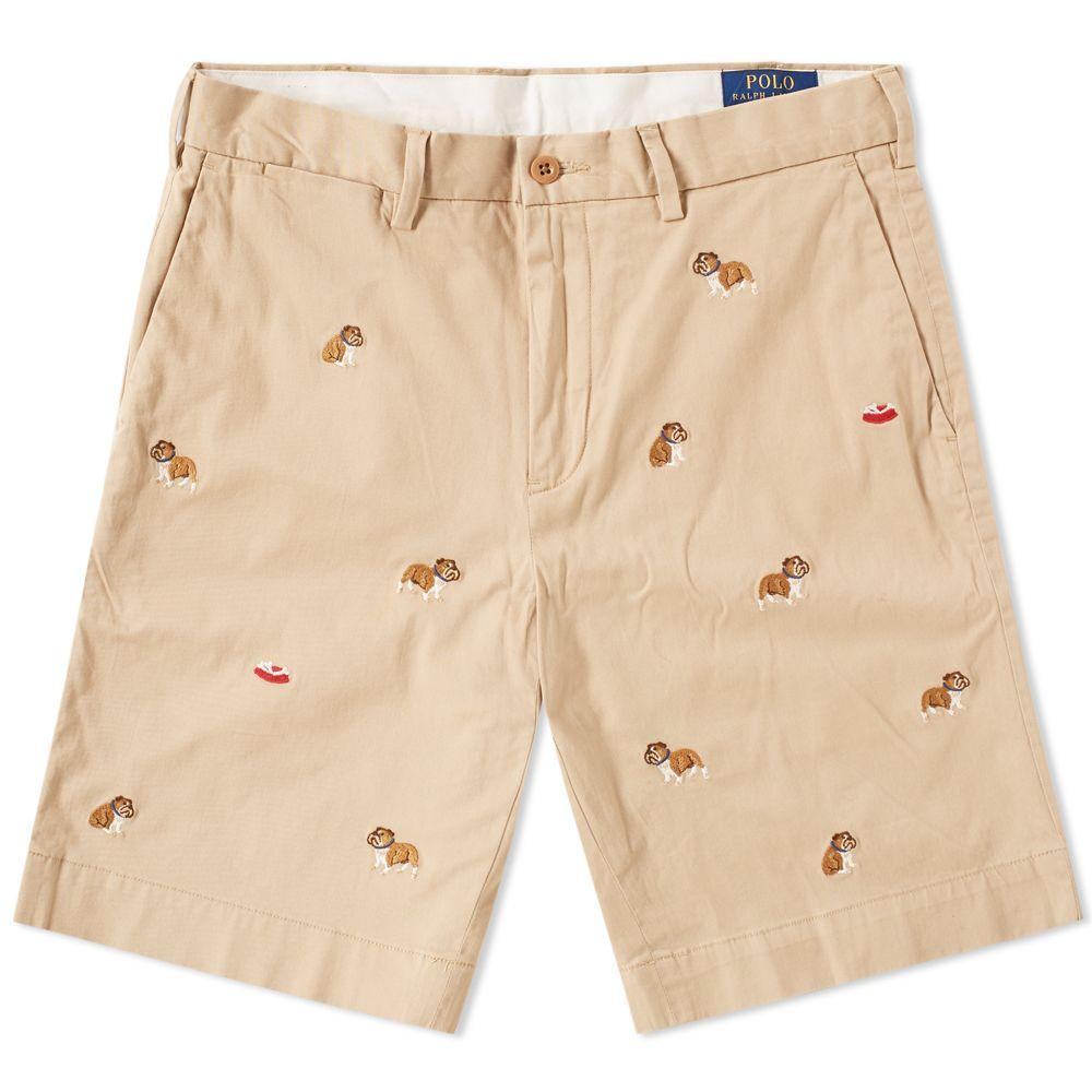 Polo Ralph Lauren Classic Bulldog Embroidered Short Khaki  70b5f10d5d75