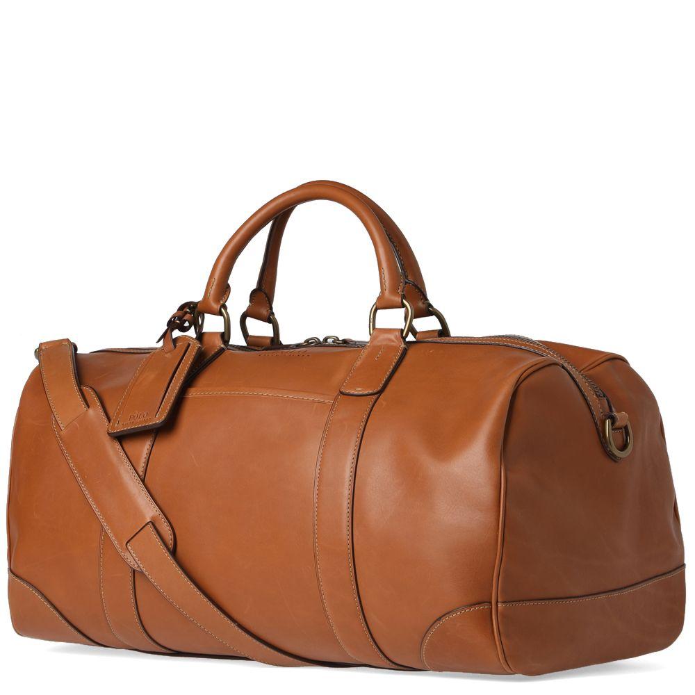 7b79869d2e63 Polo Ralph Lauren Leather Duffle Bag Cognac